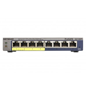 Switch 8 puertos Gigabit (4 puertos 10/100/1000 PoE + 4 puertos 10/100/1000) Web Managed Netgear