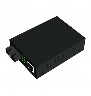 Convertidor Fast Ethernet cobre-fibra 10/100Base-TX a 100Base-FX Monomodo SC