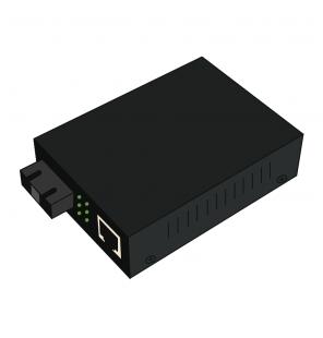 Convertidor Fast Ethernet cobre-fibra 10/100Base-TX a 100Base-FX Multimodo SC