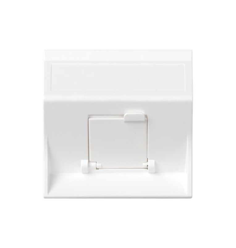 Placa inclinada SIMON 500 para 1 adaptador MD con guardapolvo