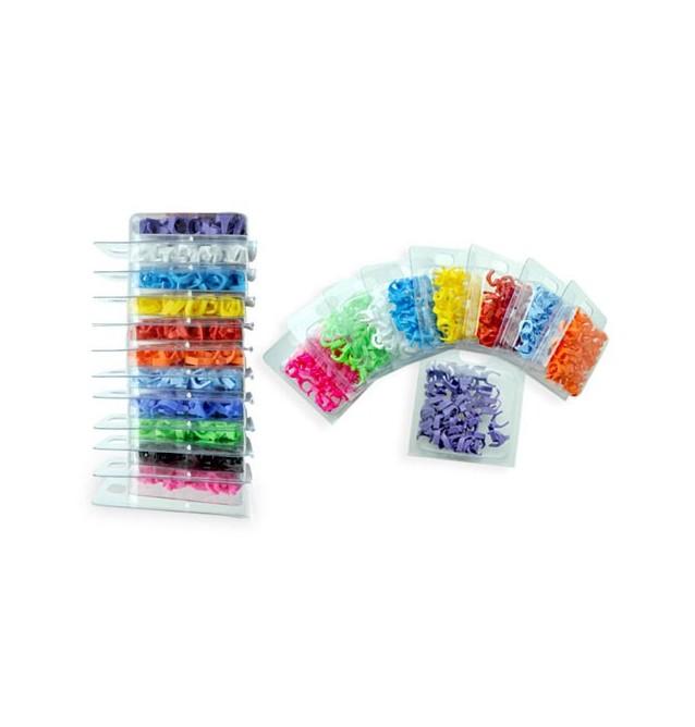 Clips de colores para latiguillos PatchSee (caja 50 uds.)