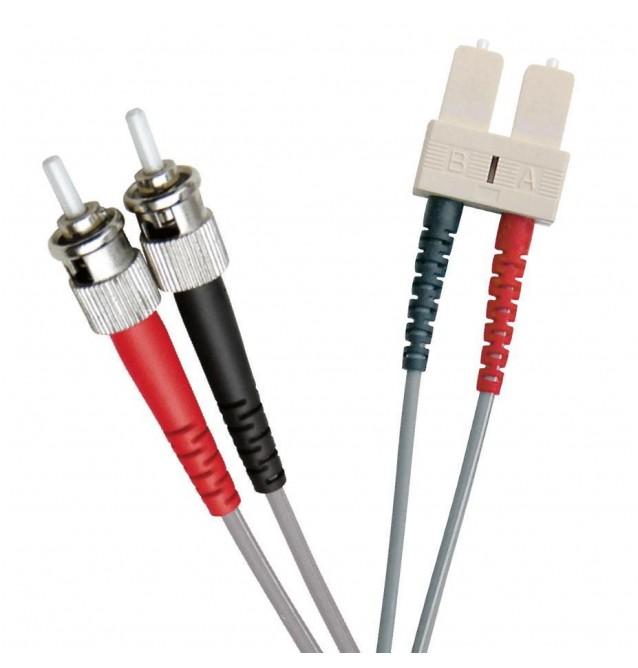 Latiguillo fibra óptica multimodo OM1 dúplex ST/SC