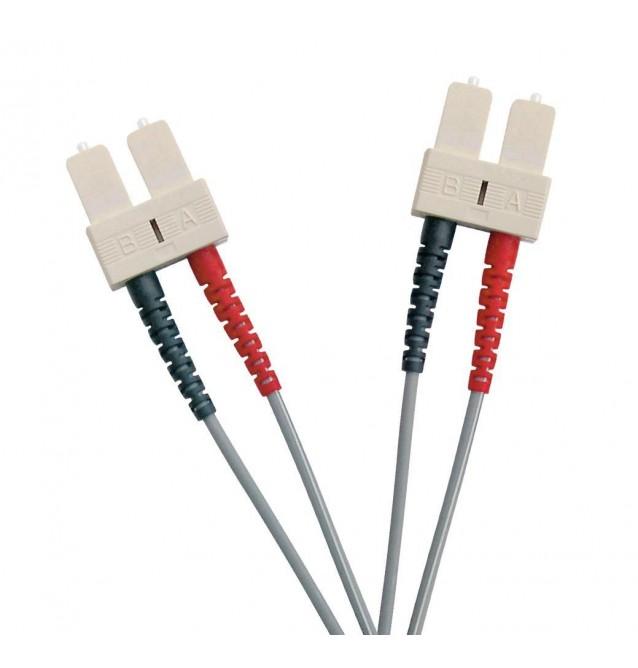Latiguillo fibra óptica multimodo OM1 dúplex SC/SC
