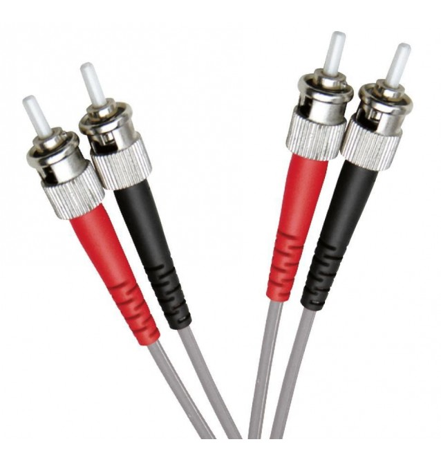 Latiguillo fibra óptica multimodo OM1 dúplex ST/ST