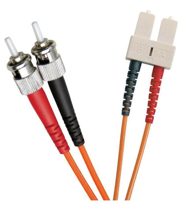 Latiguillo fibra óptica multimodo OM2 dúplex ST/SC