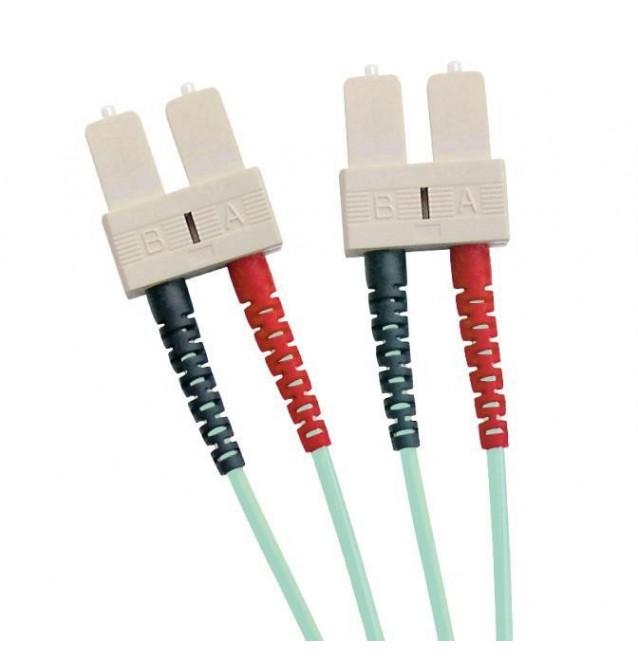 Latiguillo fibra óptica multimodo OM3 dúplex SC/SC