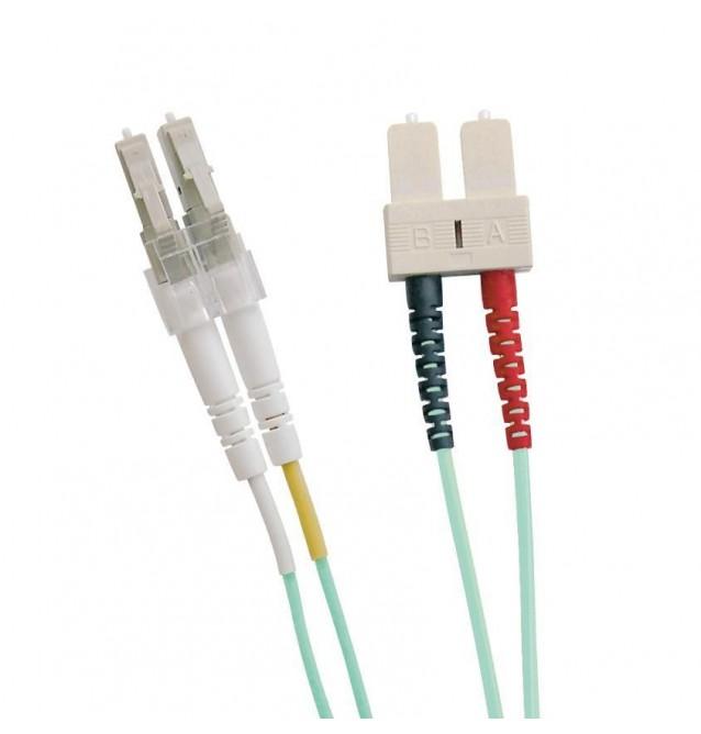 Latiguillo fibra óptica multimodo OM3 dúplex LC/SC