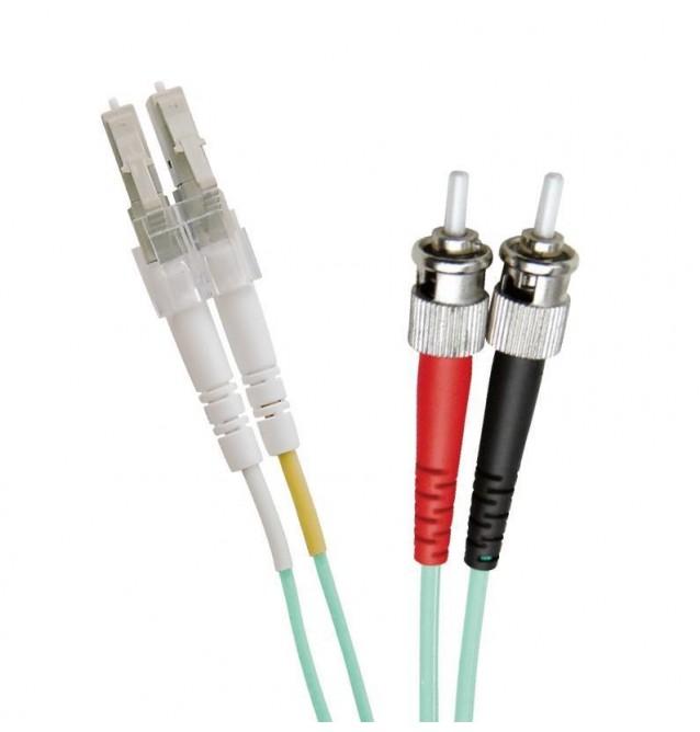 Latiguillo fibra óptica multimodo OM3 dúplex LC/ST