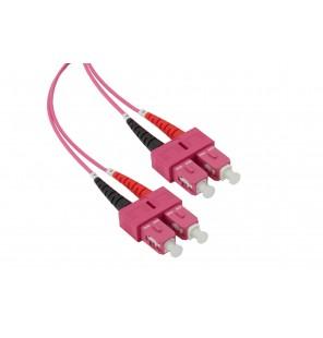 Latiguillo fibra óptica multimodo OM4 dúplex SC/SC