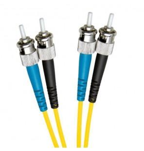 Latiguillo de fibra óptica ST/PC-ST/PC Dúplex Monomodo OS2 09/125