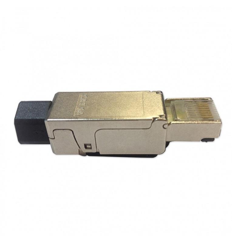 Conector macho RJ45 Cat.6A UTP/FTP sin herramientas para cables rígidos Excel