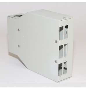 Caja DIN terminal de fibra óptica 6 SC Dúplex/6 LC QUAD