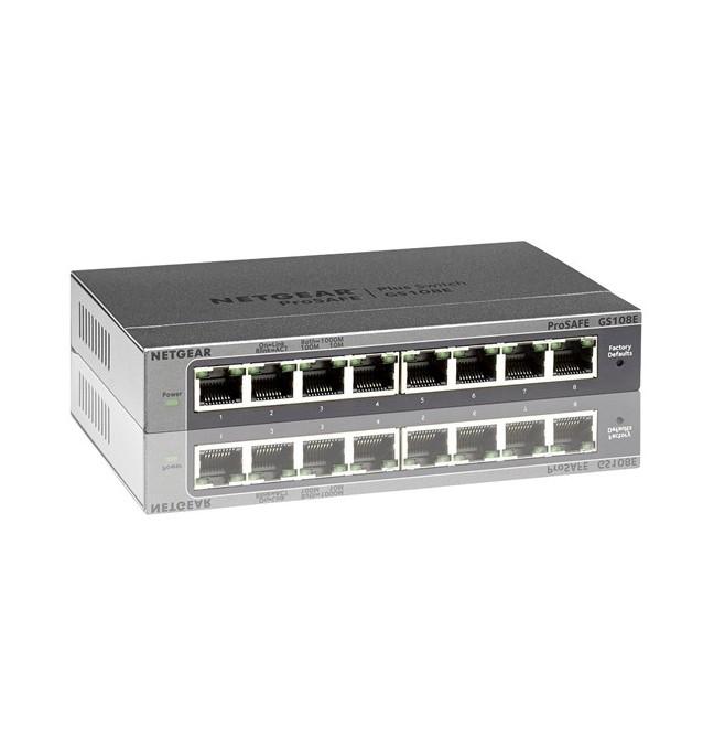 Switch Netgear 8 puertos Gigabit GS108E Prosafe Netgear