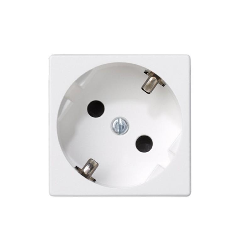 Base eléctrica K45 embornamiento rápido con obturador de protección blanca Simon
