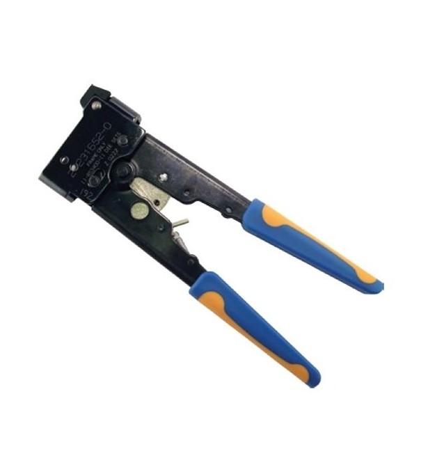 Crimpadora profesional para conector macho RJ45 UTP-FTP con guía. Commscope-AMP