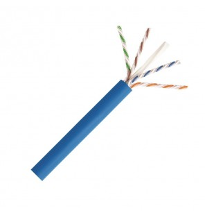 Caja Cable Cat6A UTP 4 pares LSZH color Azul CPR Dca en caja 305 mts. Commscope