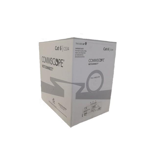 Cable Cat.6 4 pares UTP LSZH color blanco CPR Cca ( caja 305 mts ) Commscope/AMP