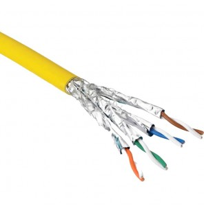 CABLE CAT7A S-FTP LSZH 1000MHZ COLOR AMARILLO (EMBALAJE BOBINA 500 MTS) EXCEL