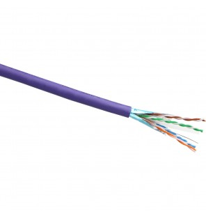 Cable FTP Cat.6 LSZH Color violeta CPR Dca ( Bobina de 305m )