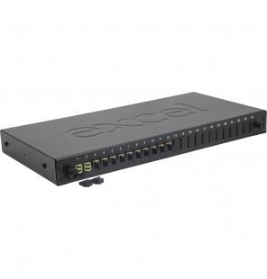 """Caja empalme rack 19"""" 1UA con 12 adaptadores LC-Duplex MM"""