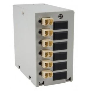 Caja DIN terminal de fibra óptica 12 adaptadores SC Simplex Multimodo