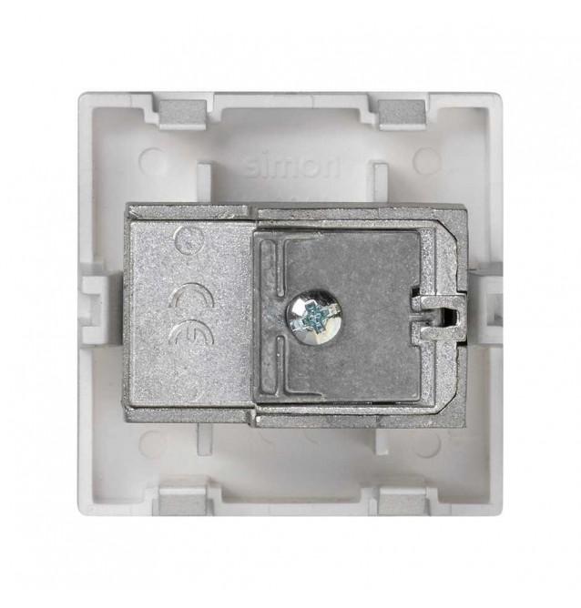 Placa K45 con toma TV macho+SAT hembra única CEI, conexión mediante tornillo
