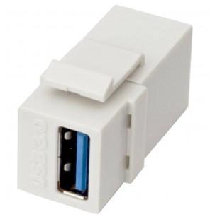 Adaptador/Doble Hembra USB 3.0 tipo A formato Keystone Excel