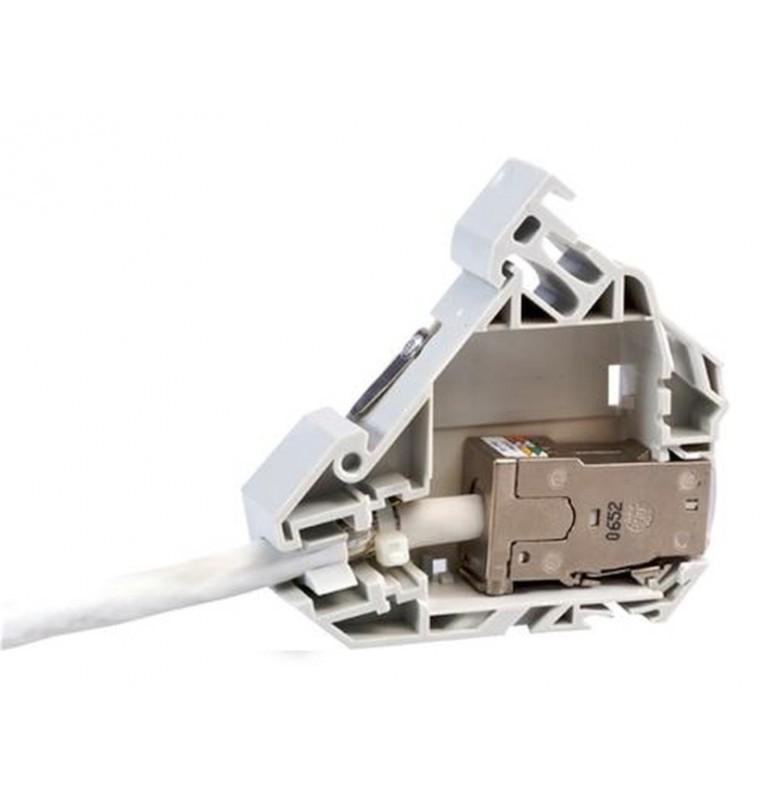 Adaptador de carril DIN para conectores RJ45 Keystone. Commscope/AMP