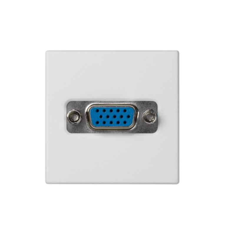 Placa K45 con 1 conector VGA HD15 Hembra, conexión mediante tornillo blanca