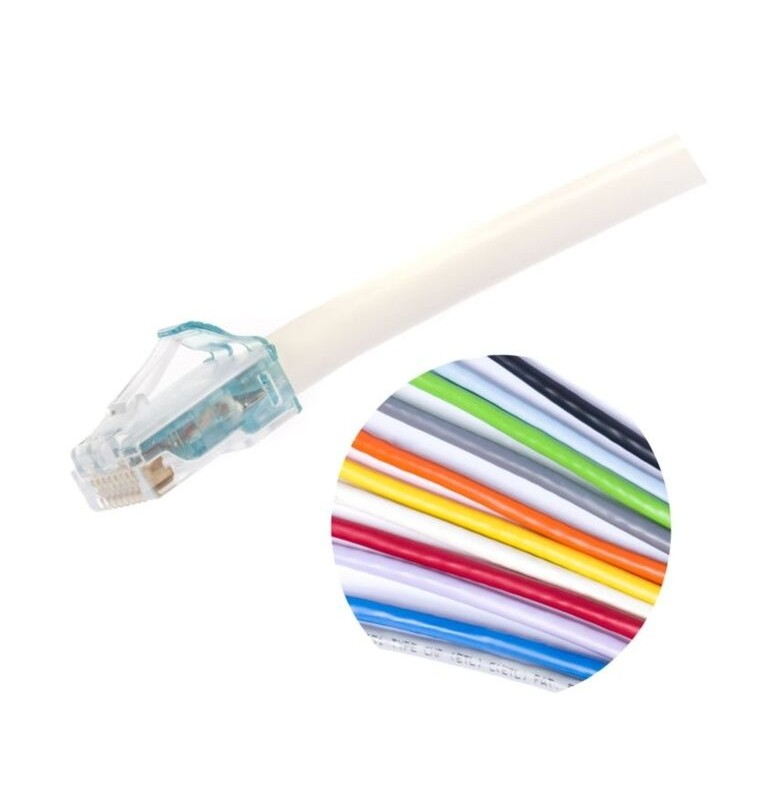 Latiguillo Cat.6A UTP AWG28 RJ45 MiNo6A Diámetro reducido LSZH Color blanco. Commscope/AMP