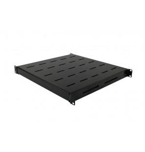Bandeja ajustable en profundidad 500-850 mm negra (F800-F1000-F1200) anclaje 4 puntos