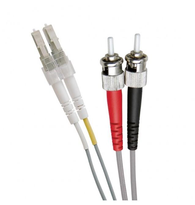 Latiguillo fibra óptica multimodo OM1 dúplex ST/LC