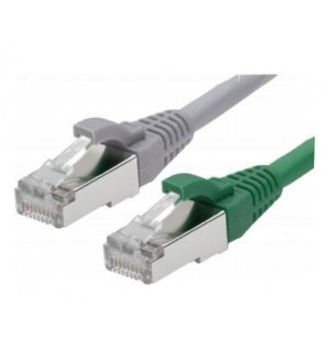 Latiguillo Cat6A F/FTP LSZH Gris de 1 metro Excel